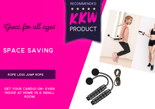Throw your old jumprope out! Save space with the new ropeless jumprope!