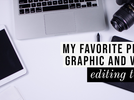 My favorite photo and video editing tool