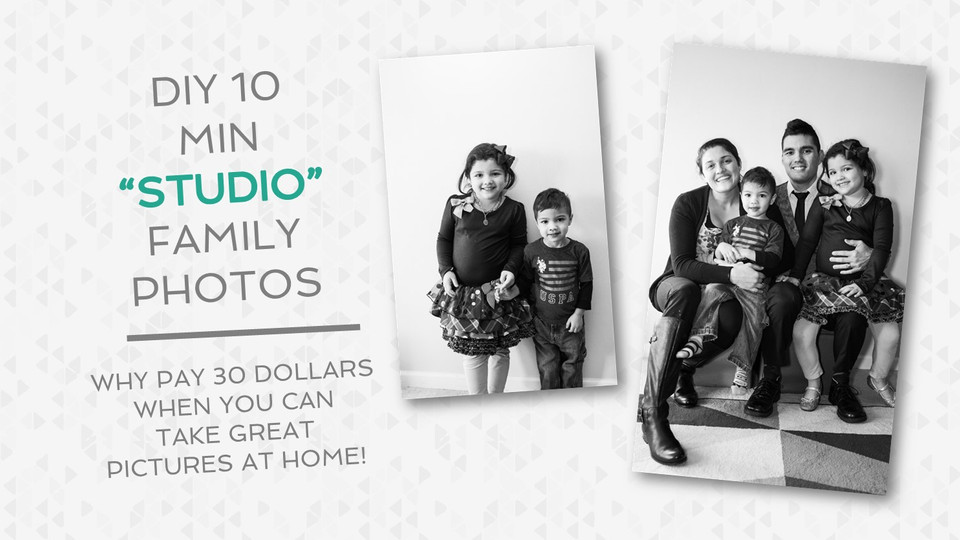 """How to Do Your Own """"Studio"""" Family Portraits For FREE."""