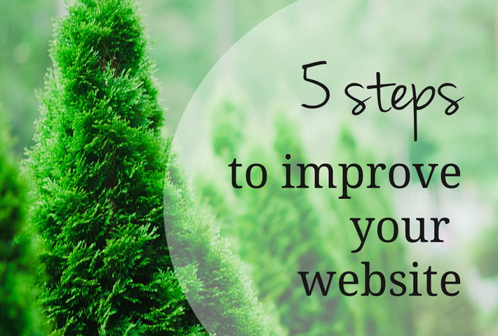 Five ways to improve your small business website.