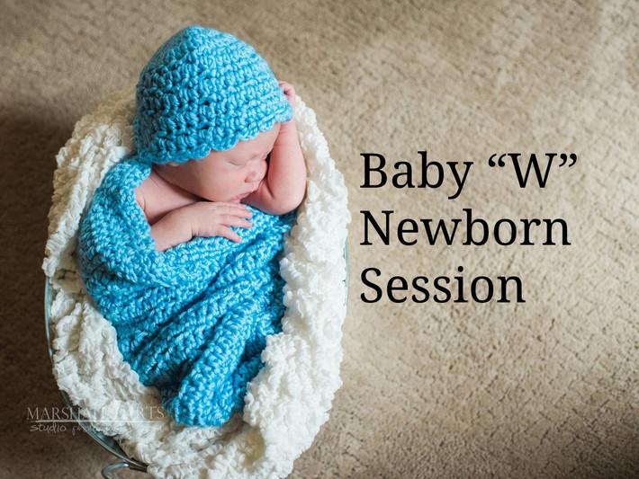 Chesapeake, VA Child and Family Photographer, Baby W Newborn session