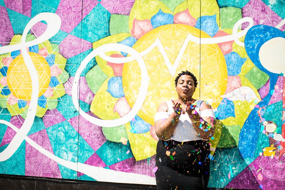 Downtown Norfolk Neon District Women's Empowerment Headshot Photography Session {Branisha}