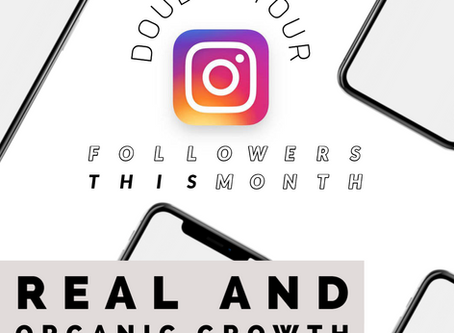 Double Your Instagram Followers this Month | Real and Organic Followers | No Fakes