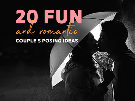 20 fun and romantic couple's and engagement posing ideas