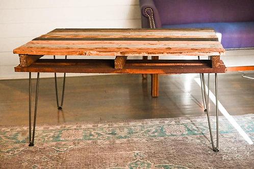 Reclaimed wood coastal shiplap coffee table