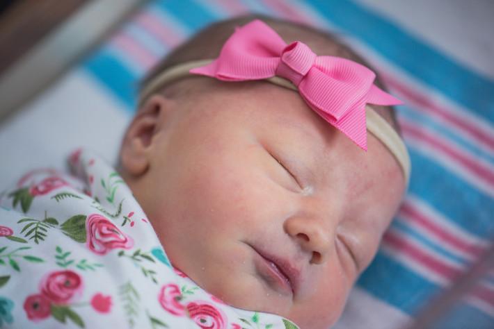 "Newborn Hospital Photography Virginia Beach- Coral, Mint, Gold, ""Baby C"""