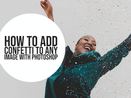 How to add confetti to your photo in photoshop