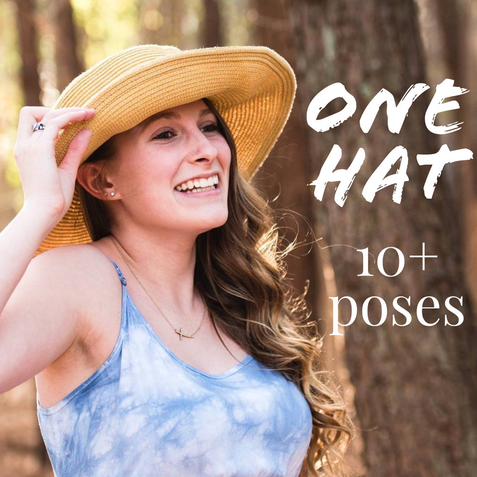 Ten Senior Girl Portrait Poses That You Can Do With One Hat...