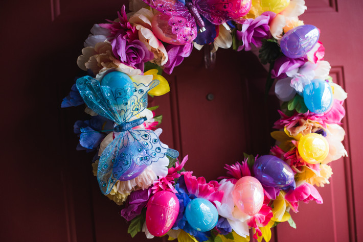 15$ dollar tree Spring or Easter wreath