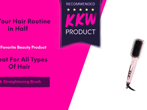 Cut Your Hair Routine In Half With Our Favorite Product For All Hair Types- Brush Straightener