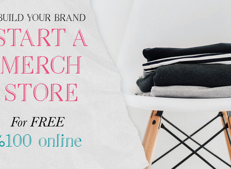 Build your business and create a 100% online free merchandise store