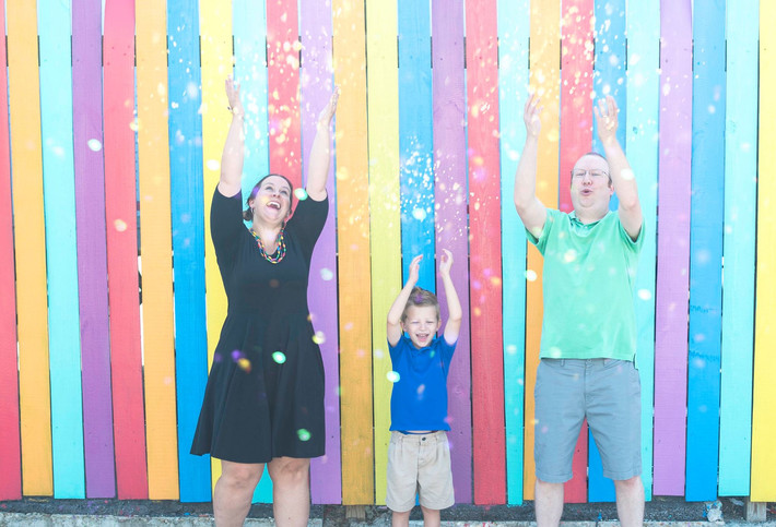 Graffiti District Neon District Norfolk Colorful Family Photography Session