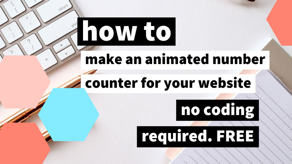 How to make an animated number counter with NO CODE - for wix -FREE