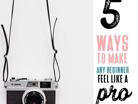 Five beginning photographer tips that helps you look and feel like a pro