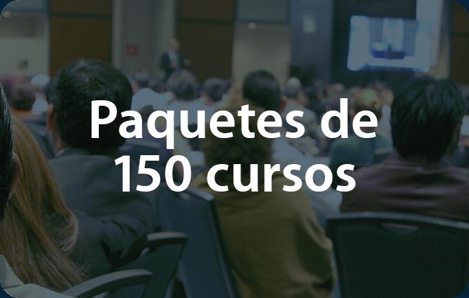 Paquetes de 150 cursos