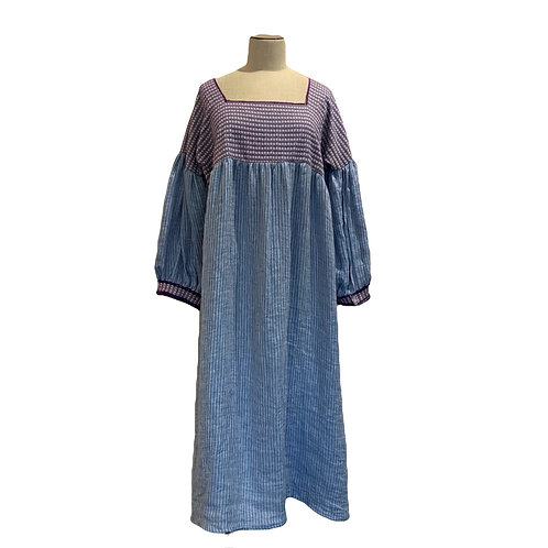 NINA LEUCA - LONG DRESS BLEU
