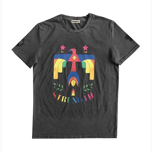 TEE-SHIRT PEACE MAKER ANTHRACITE
