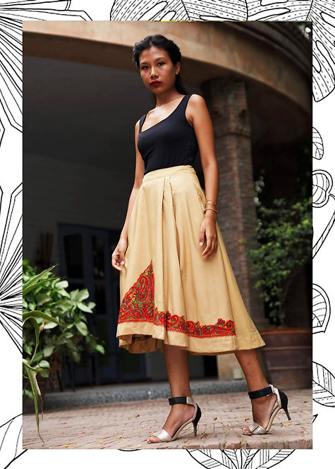 FULL BLOOM PLEATED SKIRT