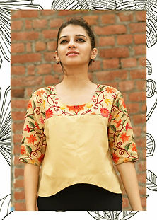 maay handcrafted flared top