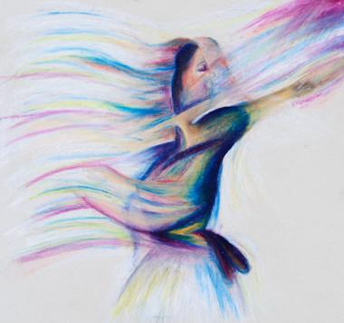 Pastel On Paper Dancer