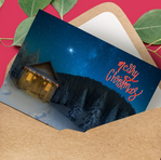 Christmas Card Mockup Digital Compositing and lettering