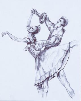 Pen on Paper Dancers