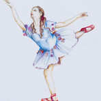 Mixed Media on Paper Dancer