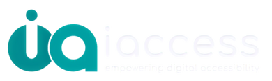 iaccess empowering digital accessibility logo white and green