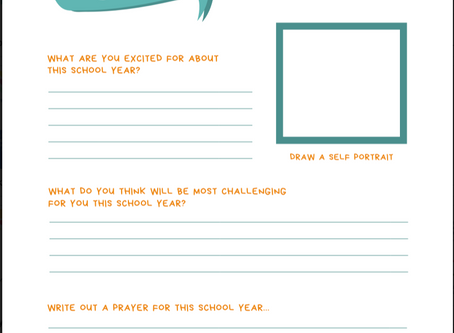 First Day of School at Home Ideas +1st day of school prayer printable