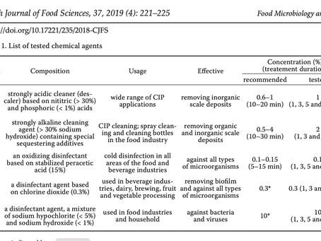 ¿Ácido peracético, dióxido de cloro o qué otro desinfectante  en la industria cervecera?