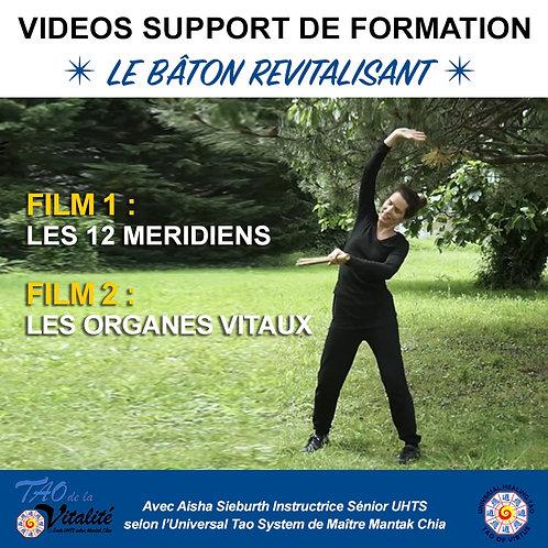 2 VIDEOS BÂTON REVITALISANT : 12 MERIDIENS & ORGANES VITAUX. Unité 20€ (AD-25%)