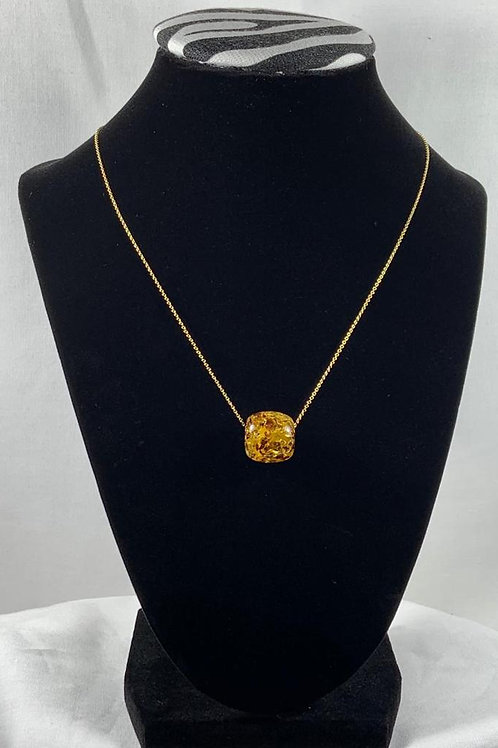 N6 Amber 14k Gold filled necklace