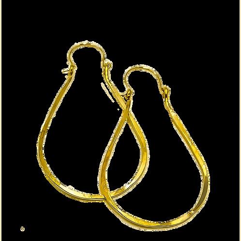 EB8 100% Brass Wire Tear Drop 2 inch Long Earring