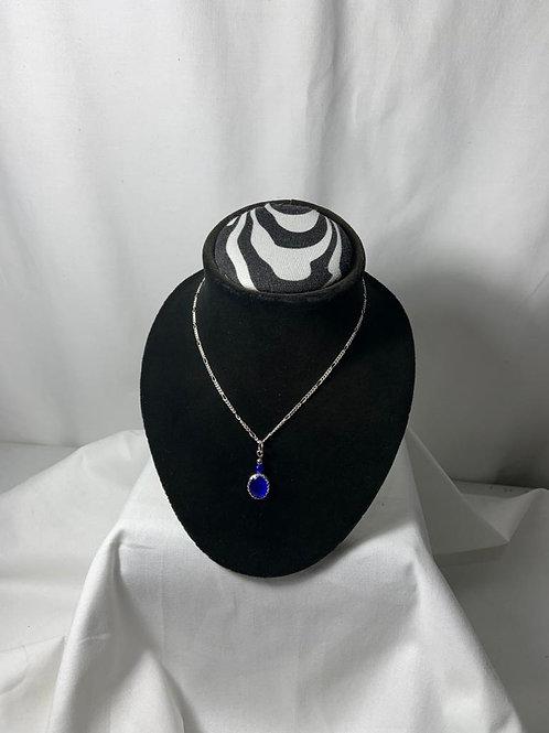 N30 Blue Cat's Eye Necklace