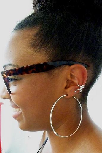 Ear Cuff Sterling Silver Squeeze on Ear