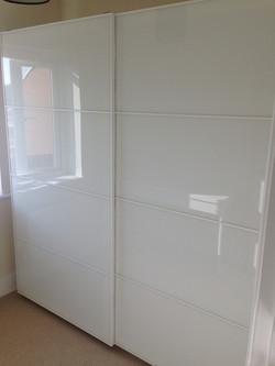 Ikea PAX sliding Farvik glass wardrobes assembled by www.norwichflatpack.co.uk