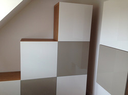 Ikea besta units as a storage solution in eaves storage sewing and crafts room assembled by www.norw