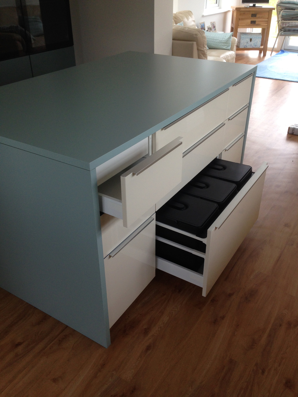 Ikea kitchen island with metod units