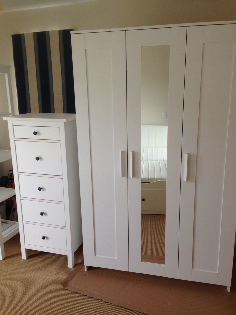 Ikea brimnes wardrobe and hemnes chest of drawers assembled by www.norwichflatpack.co.uk