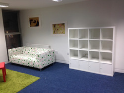 Ikea kallax cube storage and sofa at RSPB offices assembled by www.norwichflatpack.co.uk