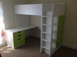Ikea Stuva Loft bed green assembled by www.norwichflatpack.co.uk