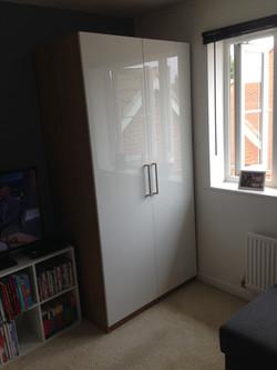 Ikea PAX high wardrobe gloss doors reflection assembled by www.norwichflatpack.co.uk