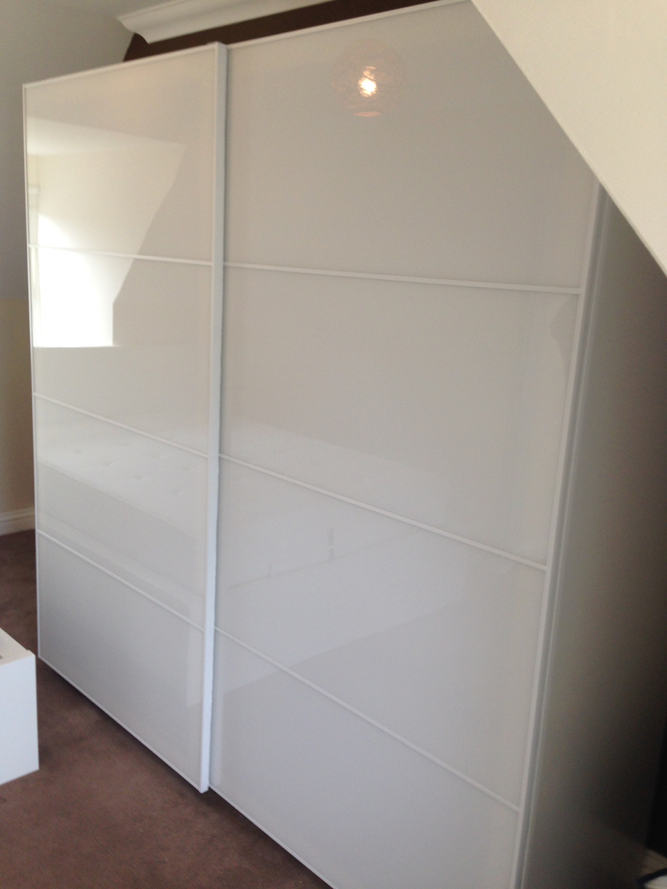 Ikea PAX sliding wardrobes space saving assembled by www.norwichflatpack.co.uk