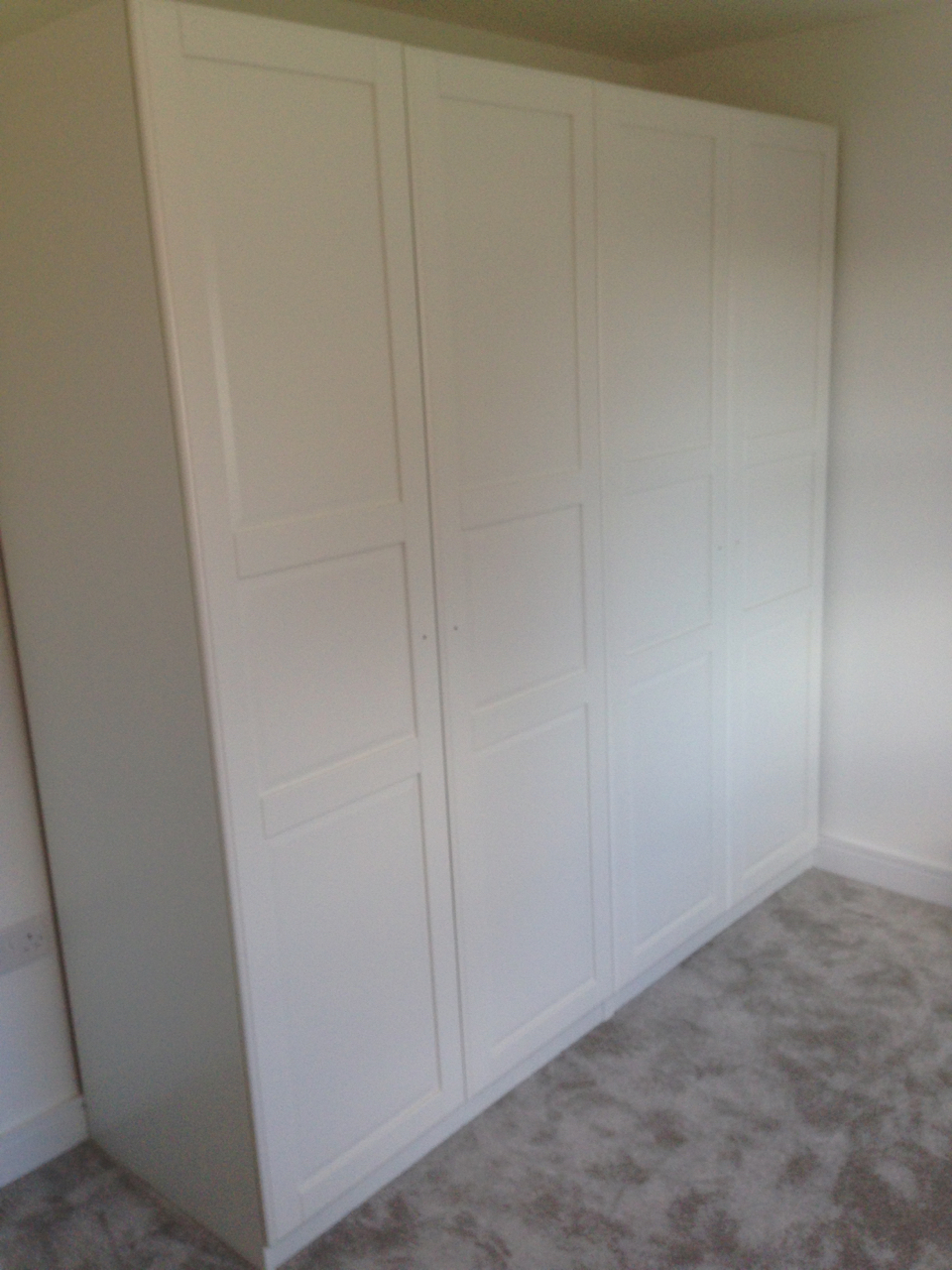 Ikea PAX hinged wardrobes assembled by www.norwichflatpack.co.uk