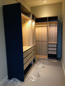 Hand painted Ikea PAX wardrobes assembled by www.norwichflatpack.co.uk