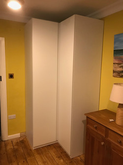 Ikea PAX corner wardrobe assembled by www.norwichflatpack.co.uk