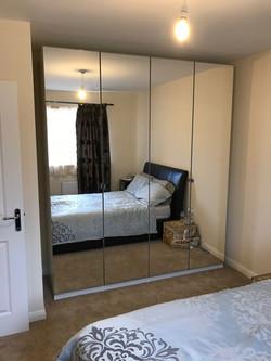 Ikea PAX mirrored wardrobes assembled by www.norwichflatpack.co.uk