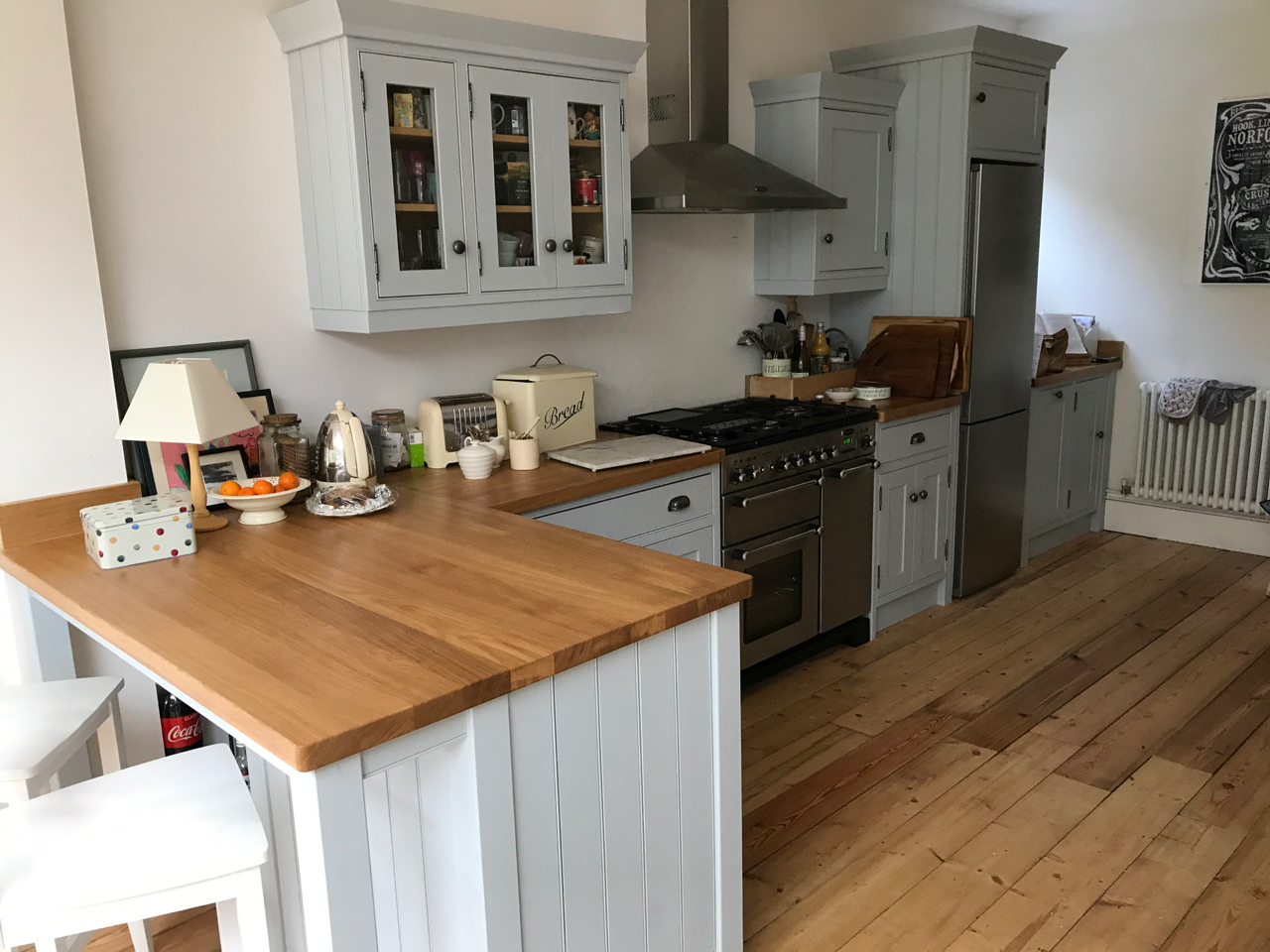 New oak worktop and customisation