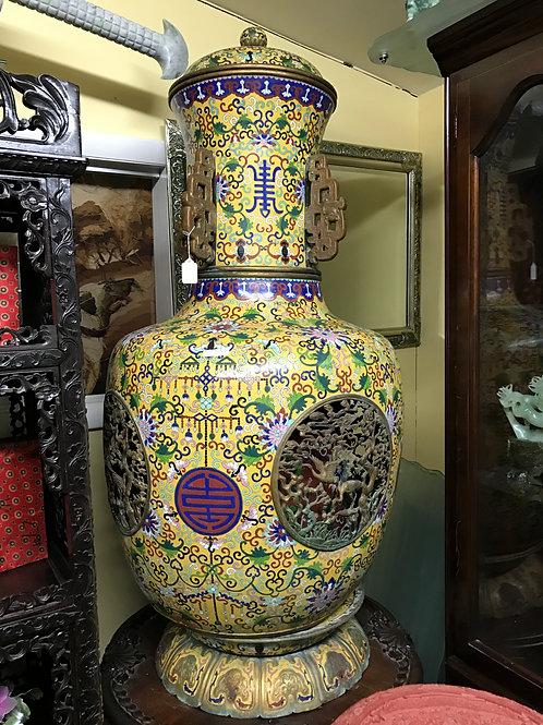 Cloisonne Double Vase