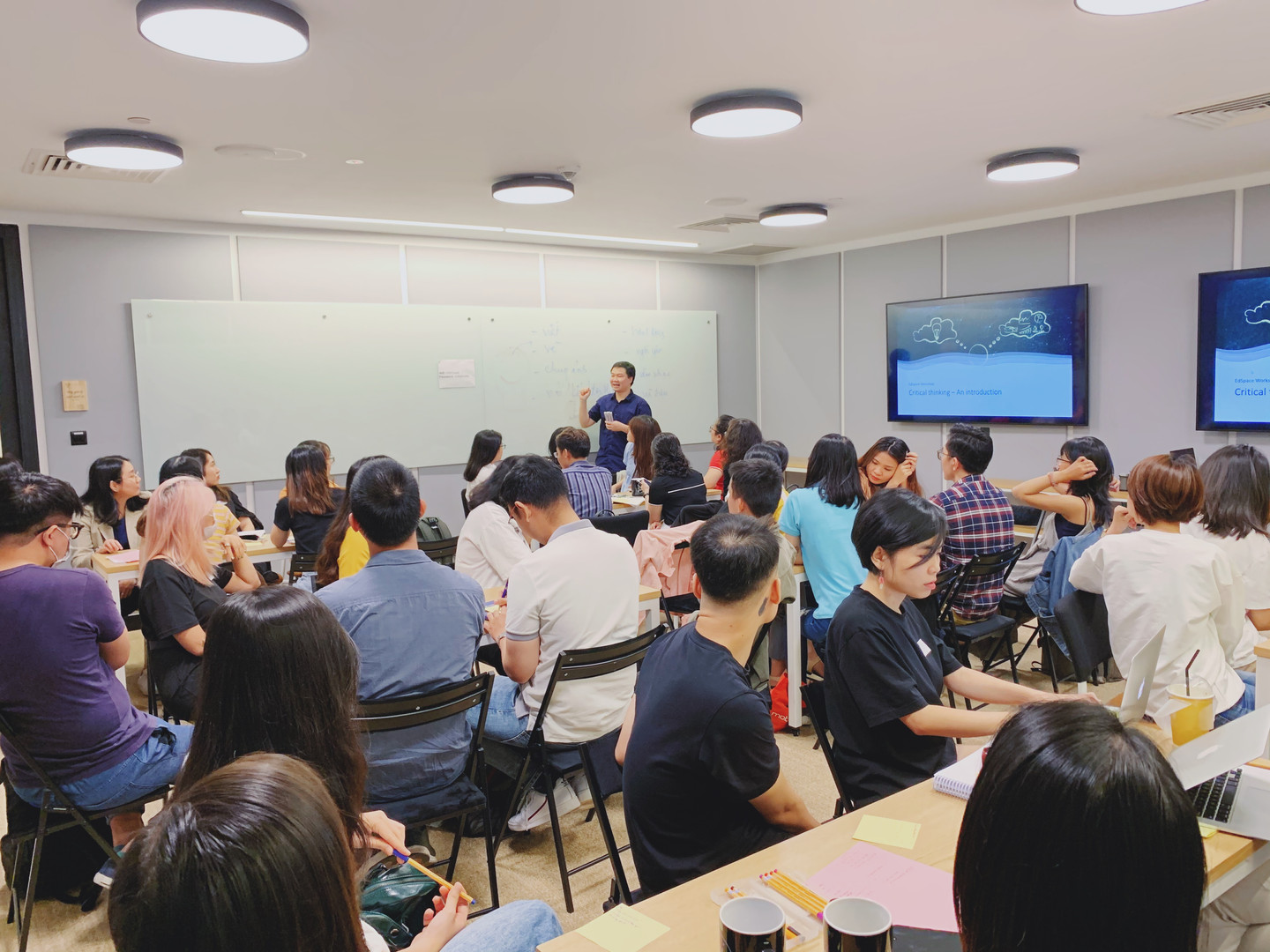 Critical thinking workshop at Wework